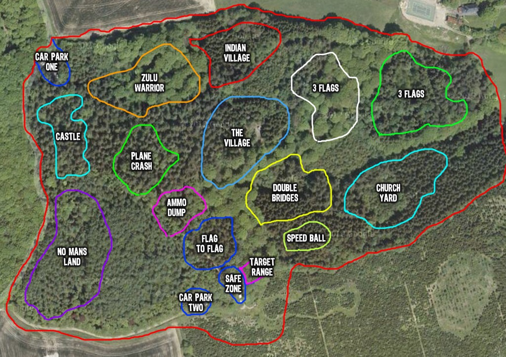 Exeter Paintball Site Map