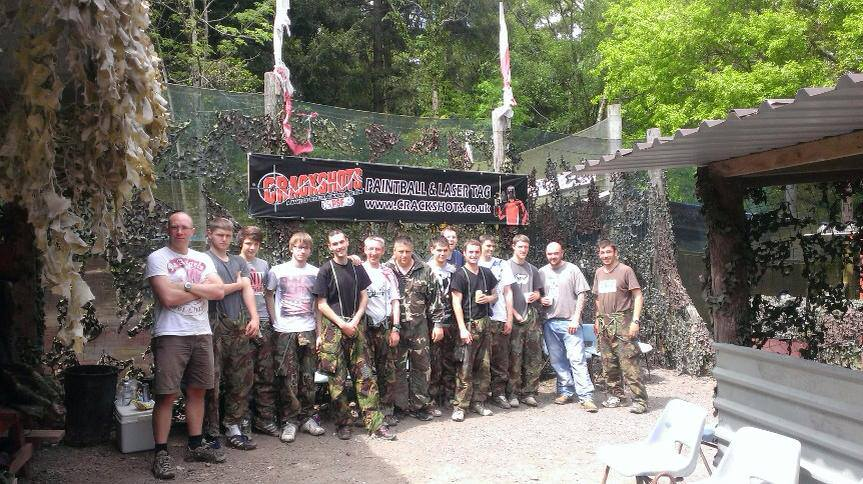 Lots Of Stag Groups Today Www Crackshots Paintball Exeter